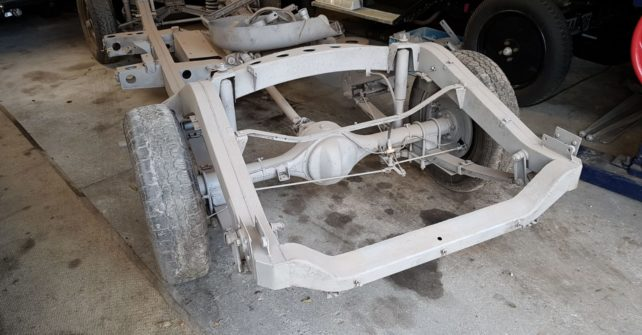 Gestraald chassis Rover P4 90